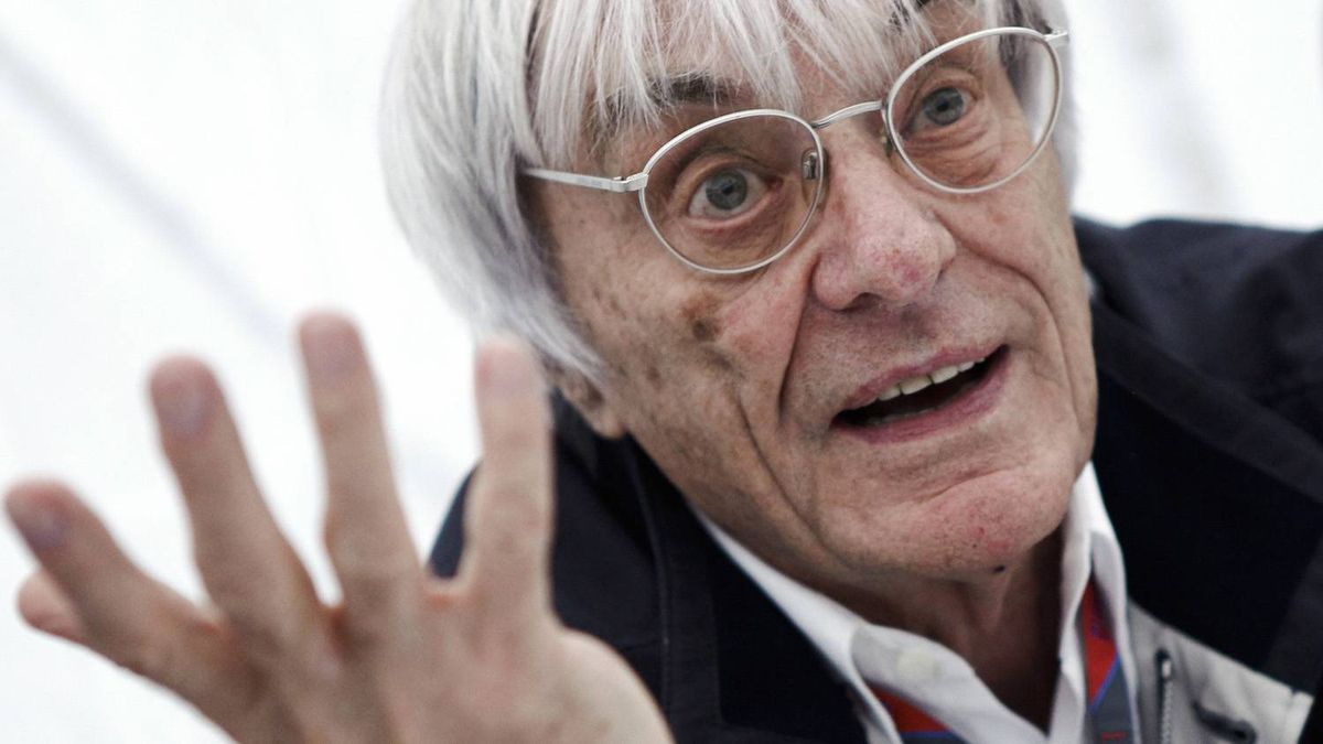 Formula One commercial supremo Bernie Ecclestone gestures as he is interviewed prior to the German F1 Grand Prix at the Nuerburgring circuit July 23, 2011.
