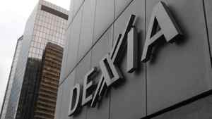The logo of Dexia bank is seen in La Defense business district, near Paris, Monday Oct. 10, 2011.