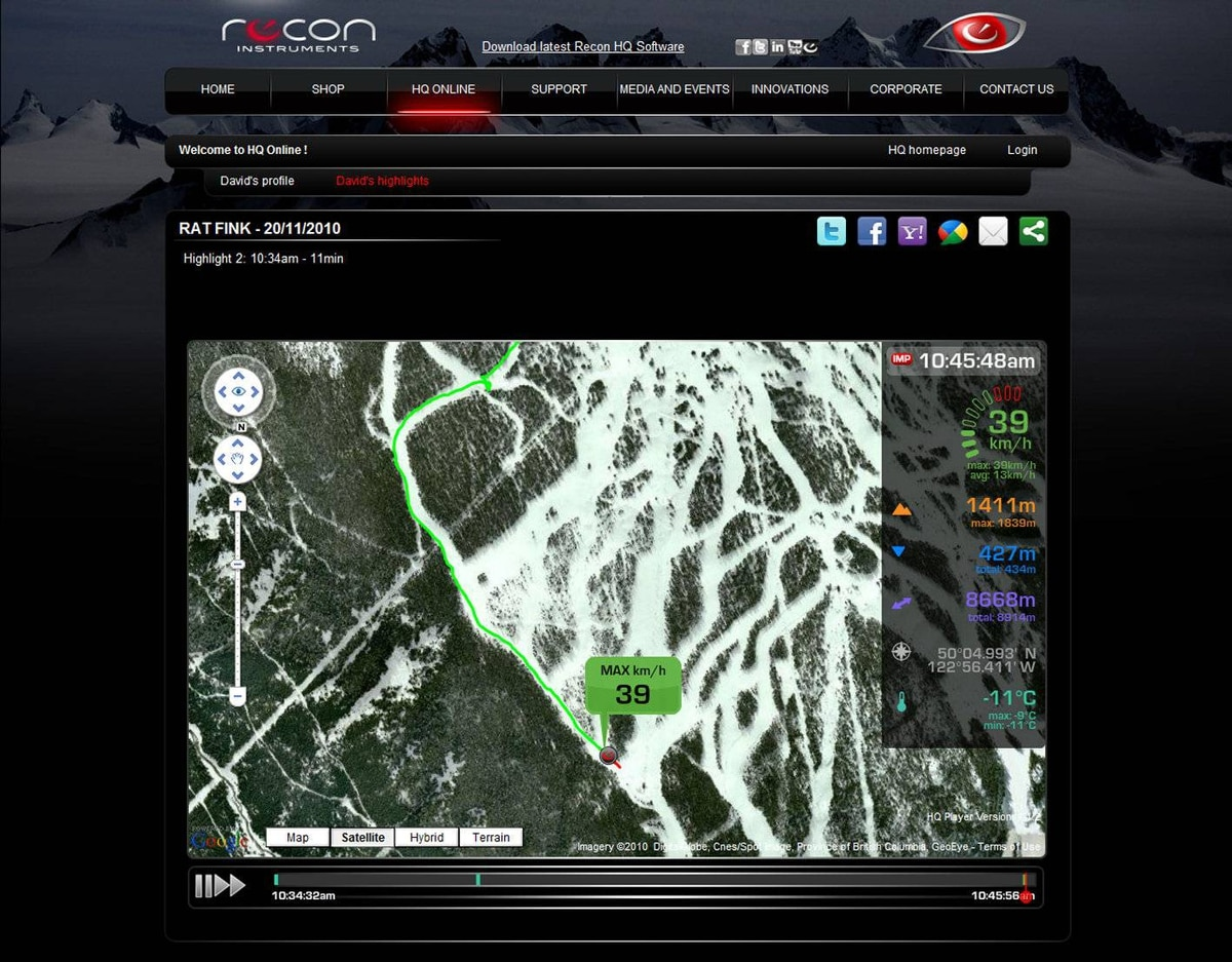 Recon uses Android, which will allow the company or thrid-party developers to create apps to personalize the goggles.