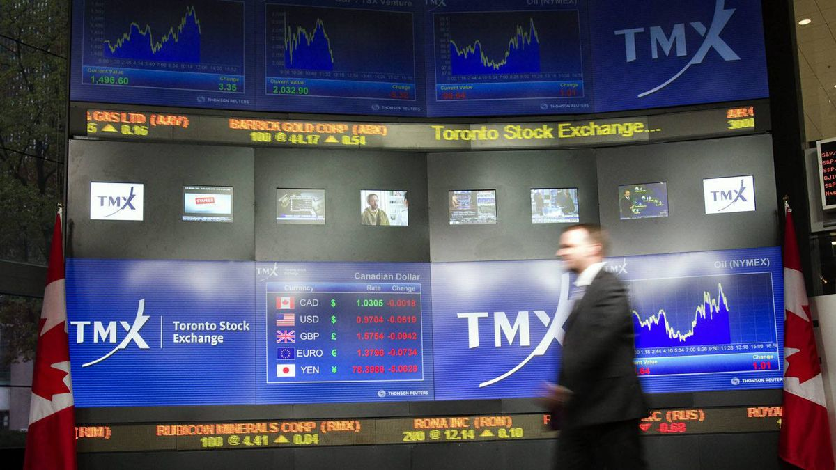 TMX Broadcast Centre manager Kris Backus walks in front of the centre's display board in Toronto on Monday May 16, 2011.