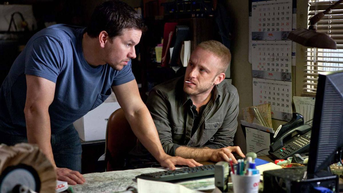 """Mark Wahlberg (left) and Ben Foster in a scene from """"Contraband."""""""