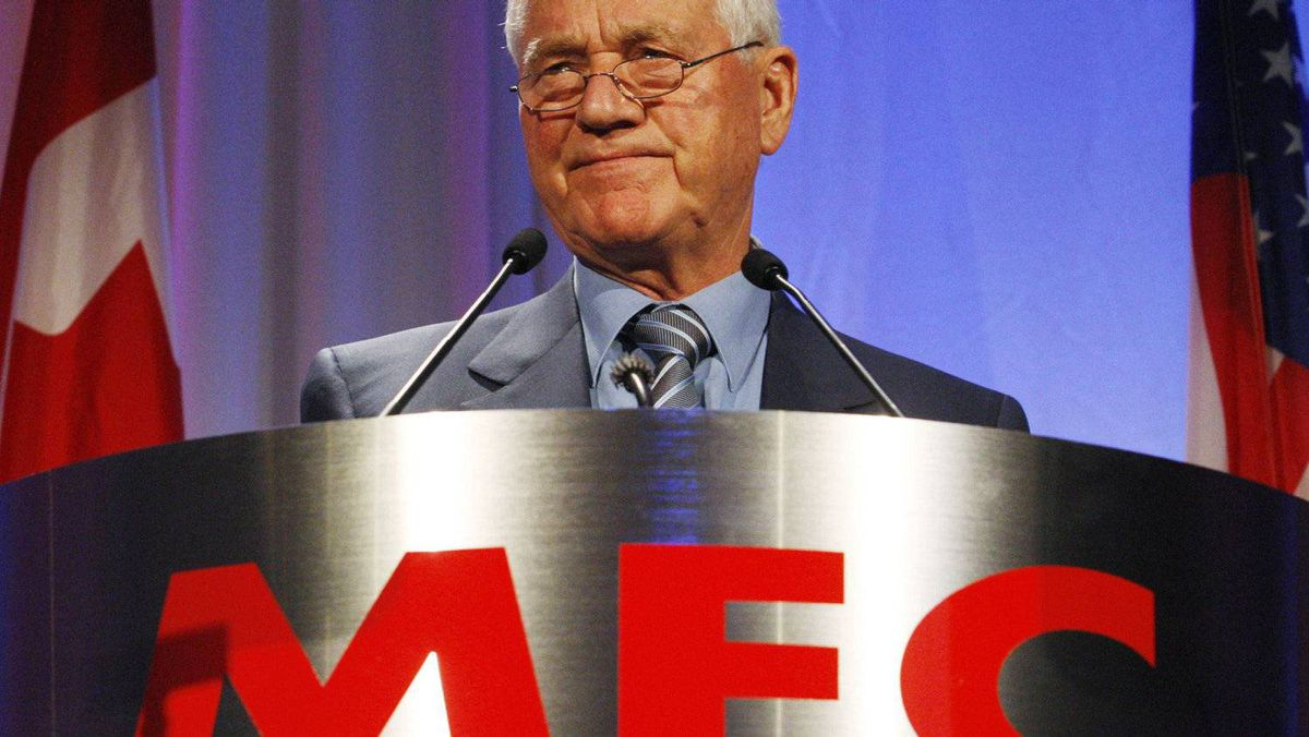 Frank Stronach at Magna Entertainment Corp.'s annual general meeting in Toronto in May, 2008.