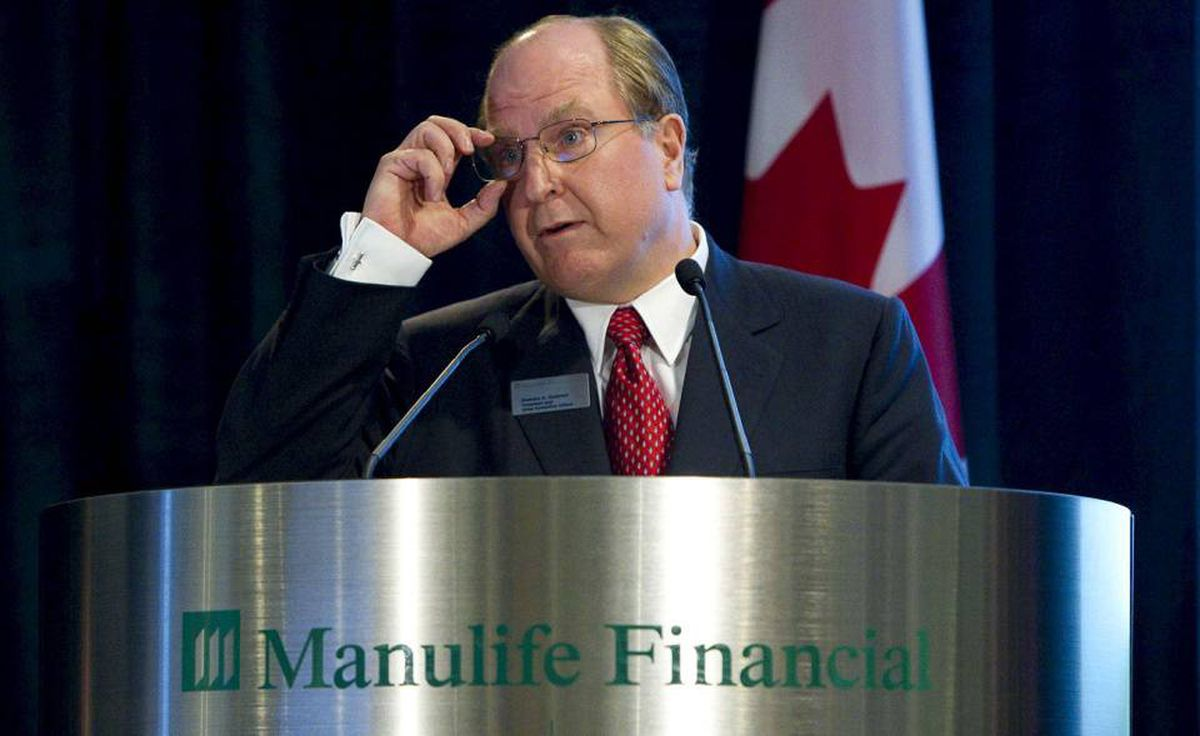 Manulife Financial CEO Guloien speaks at the annual meeting in Toronto.