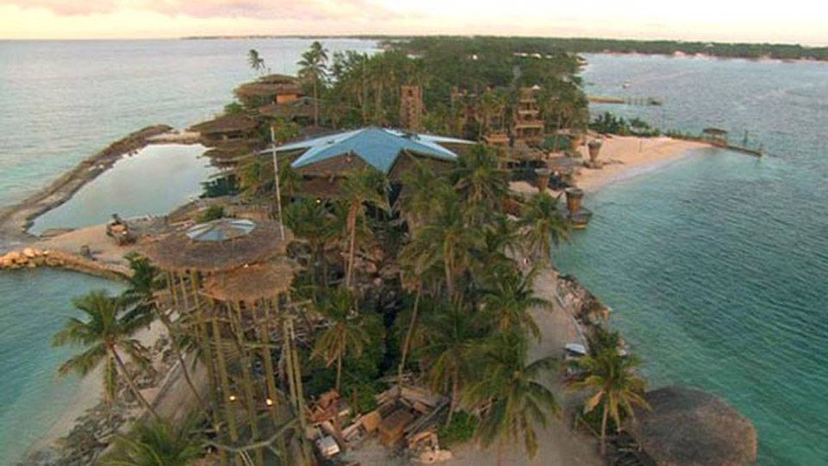 Several buildings at Nygard Cay, including its famous multistorey tree house were discovered engulfed in flames
