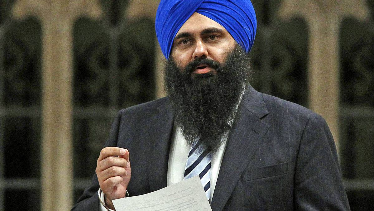 Minister of State for Democratic Reform Tim Uppal speaks during Question Period in the House of Commons on Oct. 27, 2011.