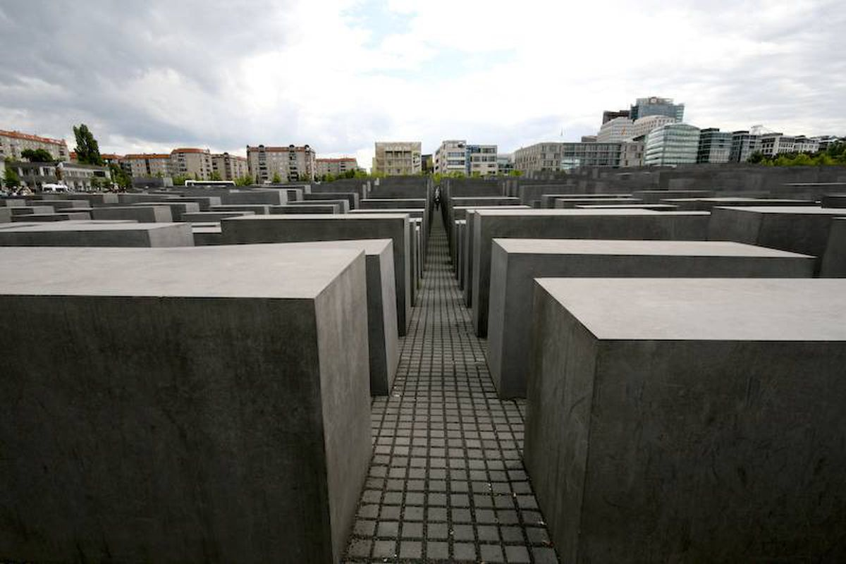 Holocaust Memorial: The four-year-old Memorial to the Murdered Jews of Europe forms an abstract - and slightly haunting - undulating wave pattern out of 2,711 slabs of concrete.