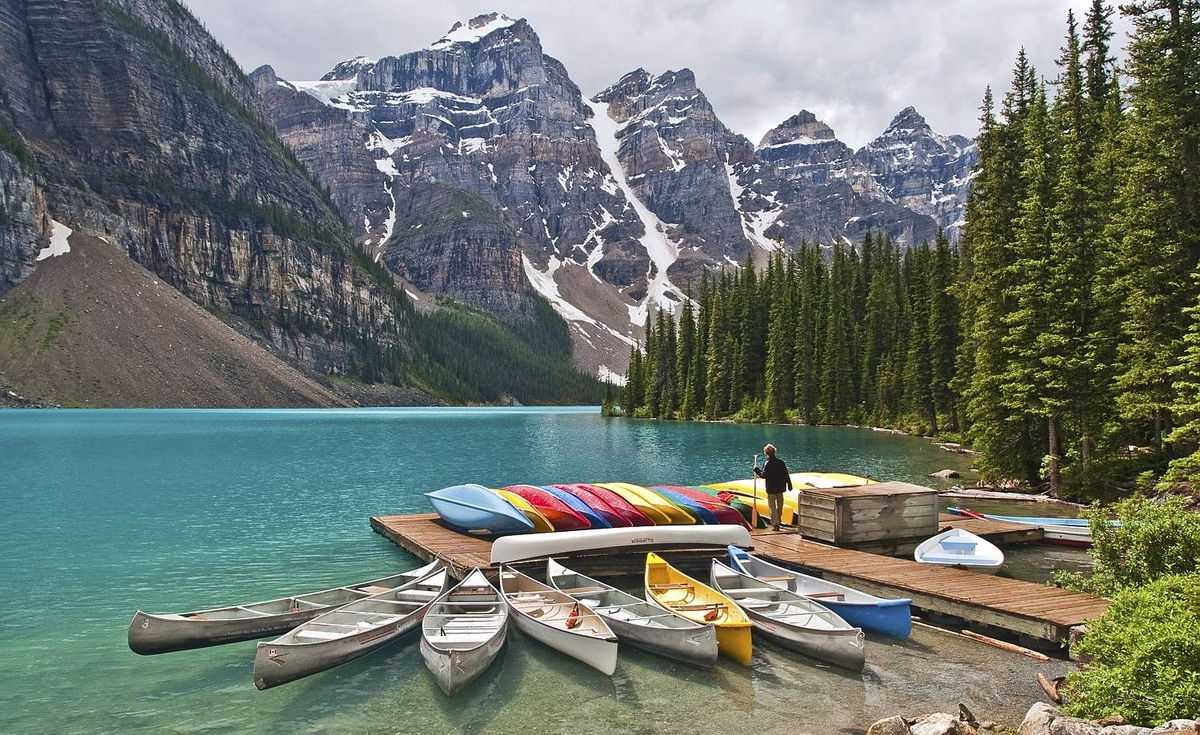 Steve Rosset uploaded this image to our Flickr pool take on Moraine Lake in Alberta