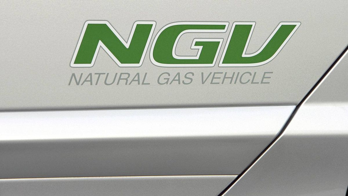 A Honda Civic GX compressed natural gas vehicle.