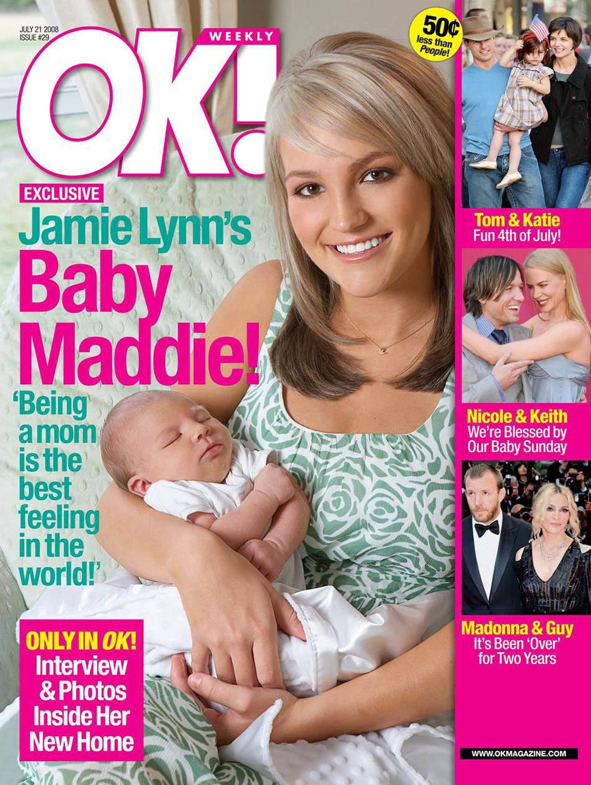 Soon, teenagers were getting into the act, such as Jamie Lynn Spears, who appeared on an August 2008 cover of OK! magazine with her daughter Maddie Briann. She was 17 at the time.
