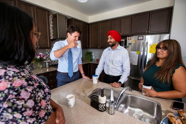 Trudeau unveils $5.6-billion tax break for middle class to compete with Scheer pledge