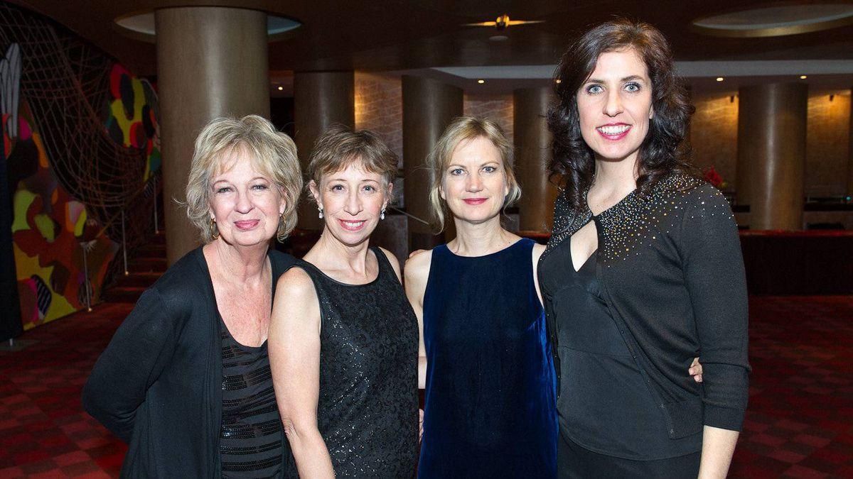 Jayne Eastwood (left), Robin Duke, Kathryn Greenwood and Teresa Pavlinek - all members of comedy group Women Fully Clothed