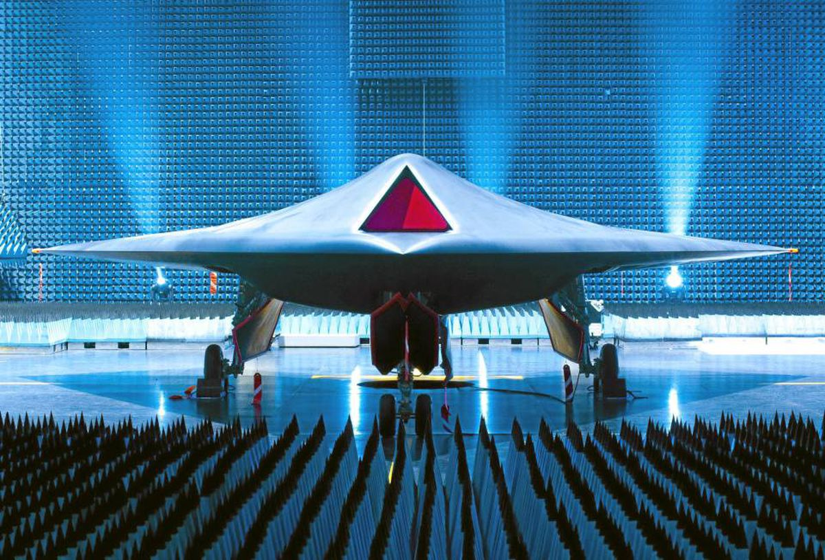 Taramis, the prototype of an unmanned combat aircraft of the future.