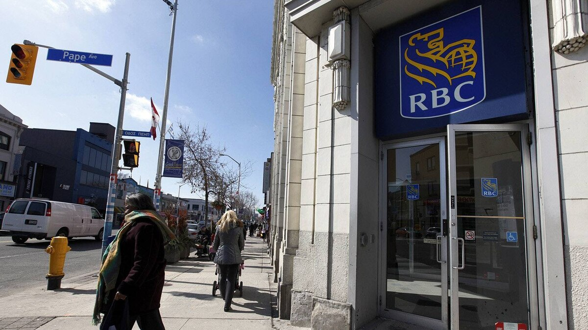 A Royal Bank of Canada, RBC location in Toronto.