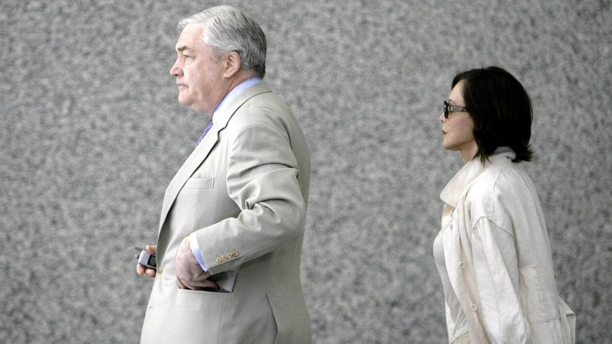 Columnist Barbara Amiel Black has stood alongside her husband throughout his trial and stay in prison.