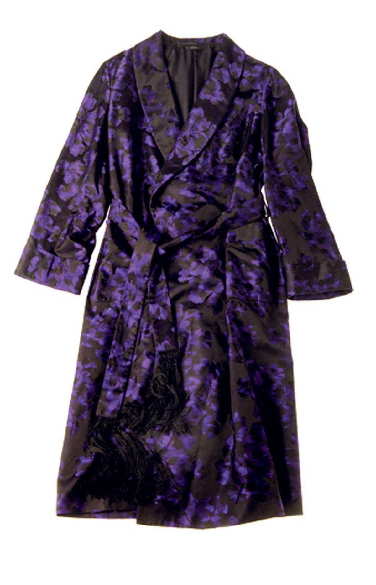 Silk Tom Ford men's robe, $7,995 at Harry Rosen (www.harryrosen.com).