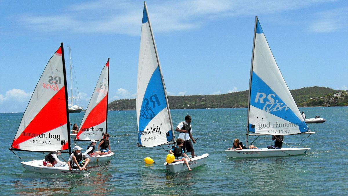 Learn to sail at NonSuch Bay Resort in Antigua.