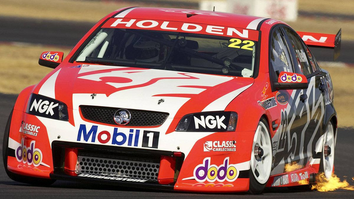 Todd Kelly testing the new Holden Racing Team VE Commodore.