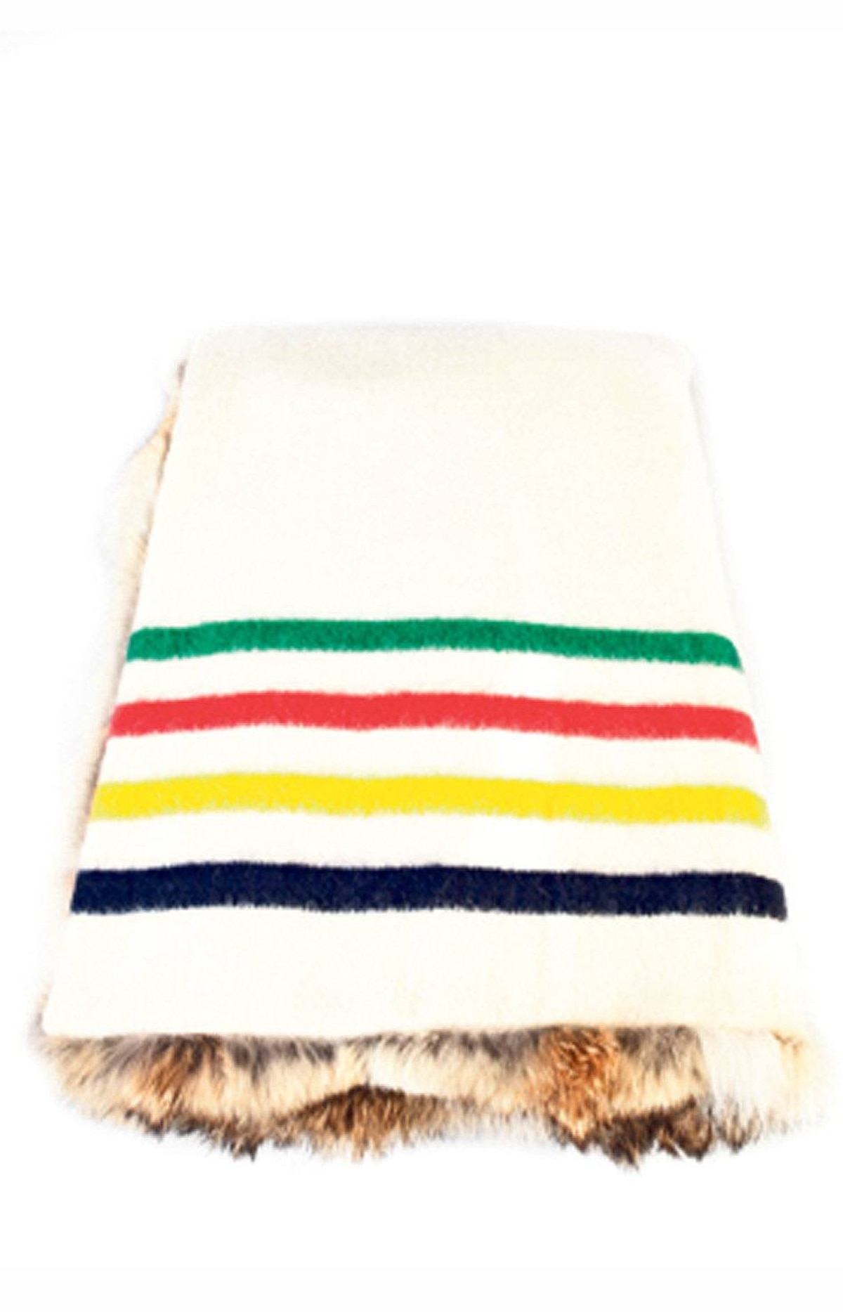 HBC natural coyote blanket, $2,150 at The Bay (www.thebay.com).