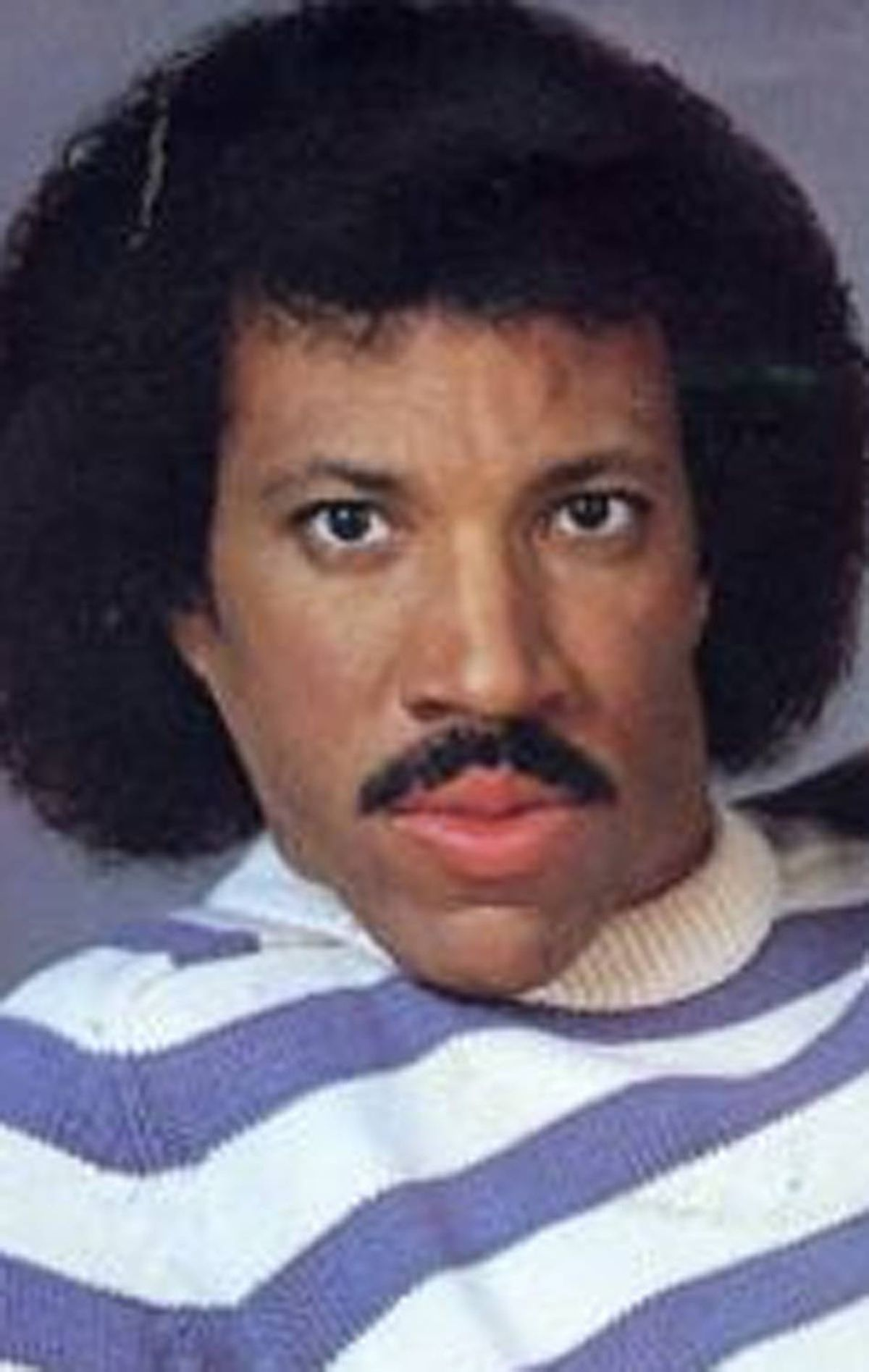 6. Lionel Richie Hello. Is it me you're looking for? Yes, yes it is.