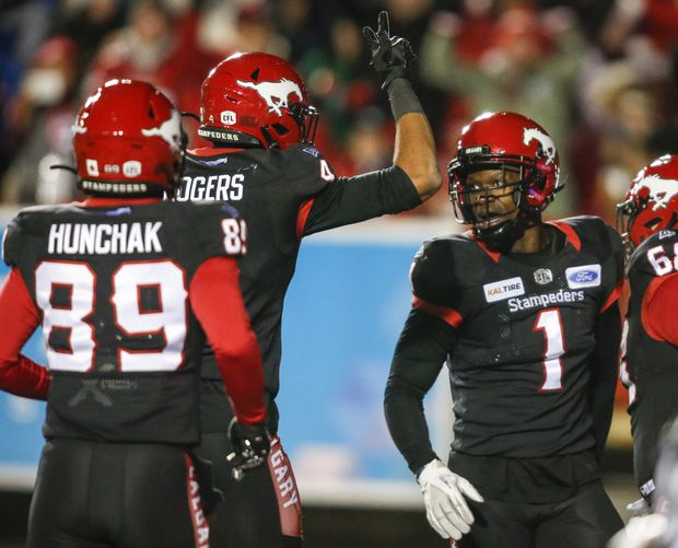 Hergy Mayala had two TDs as Stampeders hang on for 30-28 win over Roughriders
