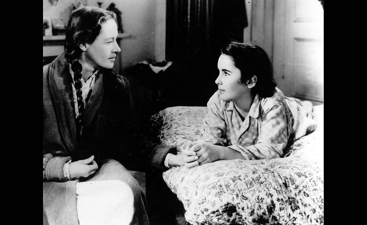 Elizabeth Taylor, right, at age 12, and Ann Revere as they appeared in National Velvet in 1944.