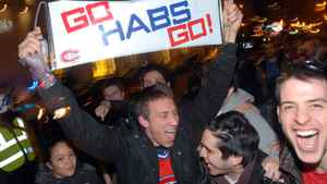 Canadiens fans in Montreal rejoice after the Habs' victory against Washington. John Morstad for The Globe and Mail