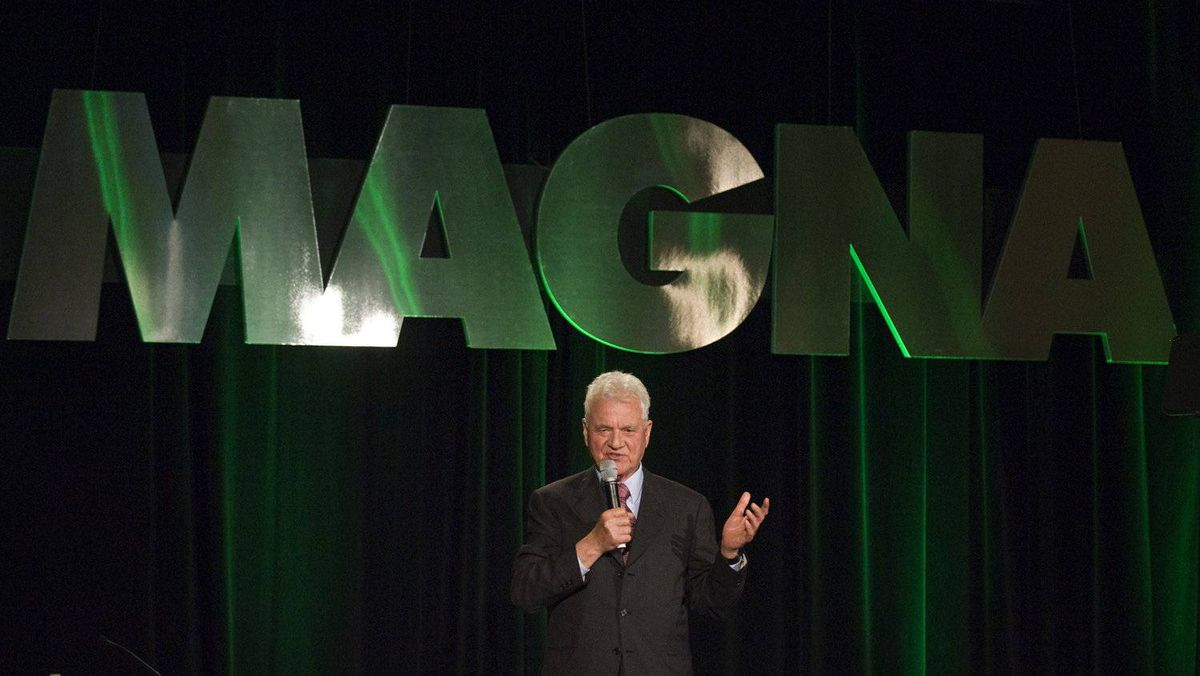Magna International Inc. founder Frank Stronach at the company's AGM in 2011. While not with Magna any more, Mr. Stronach is an investor in the parts maker's Magna E-car project, which has inked a joint venture deal with Hyundai of South Korea.