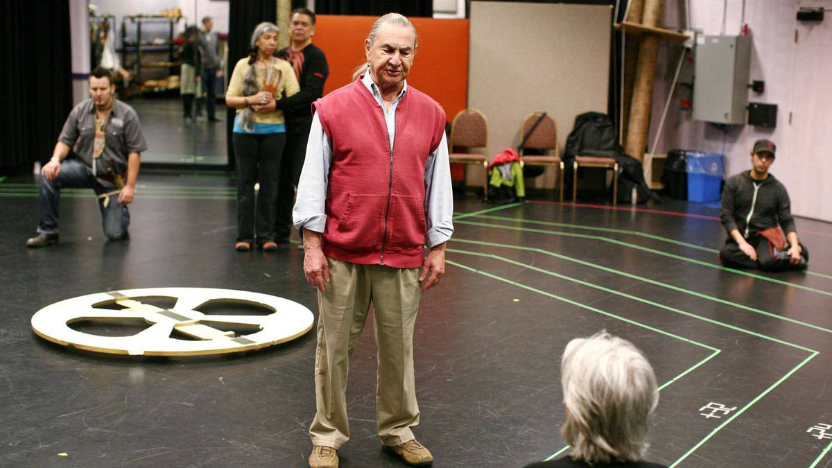 August Schellenberg plays King Lear in the NAC all-aboriginal production.