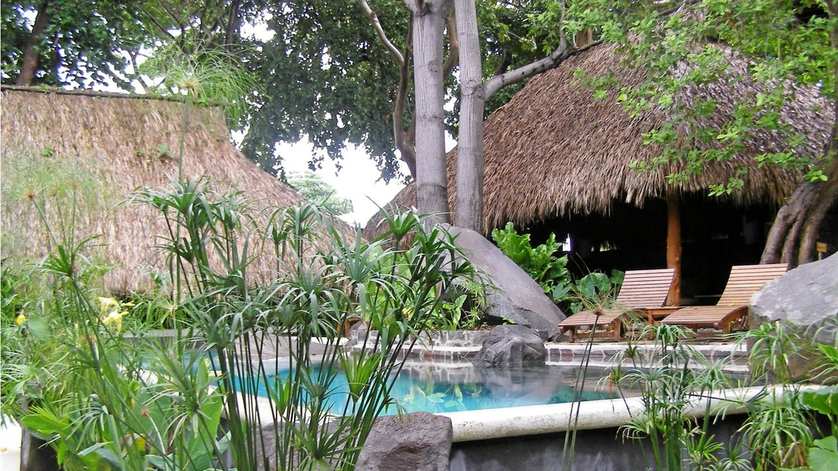Jicaro Island Ecolodge built its dipping pool around the island's existing rock formations.