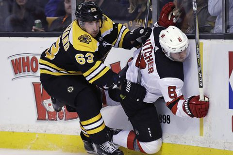 Brad Marchand suspended 5 games for elbowing Devils' Johansson