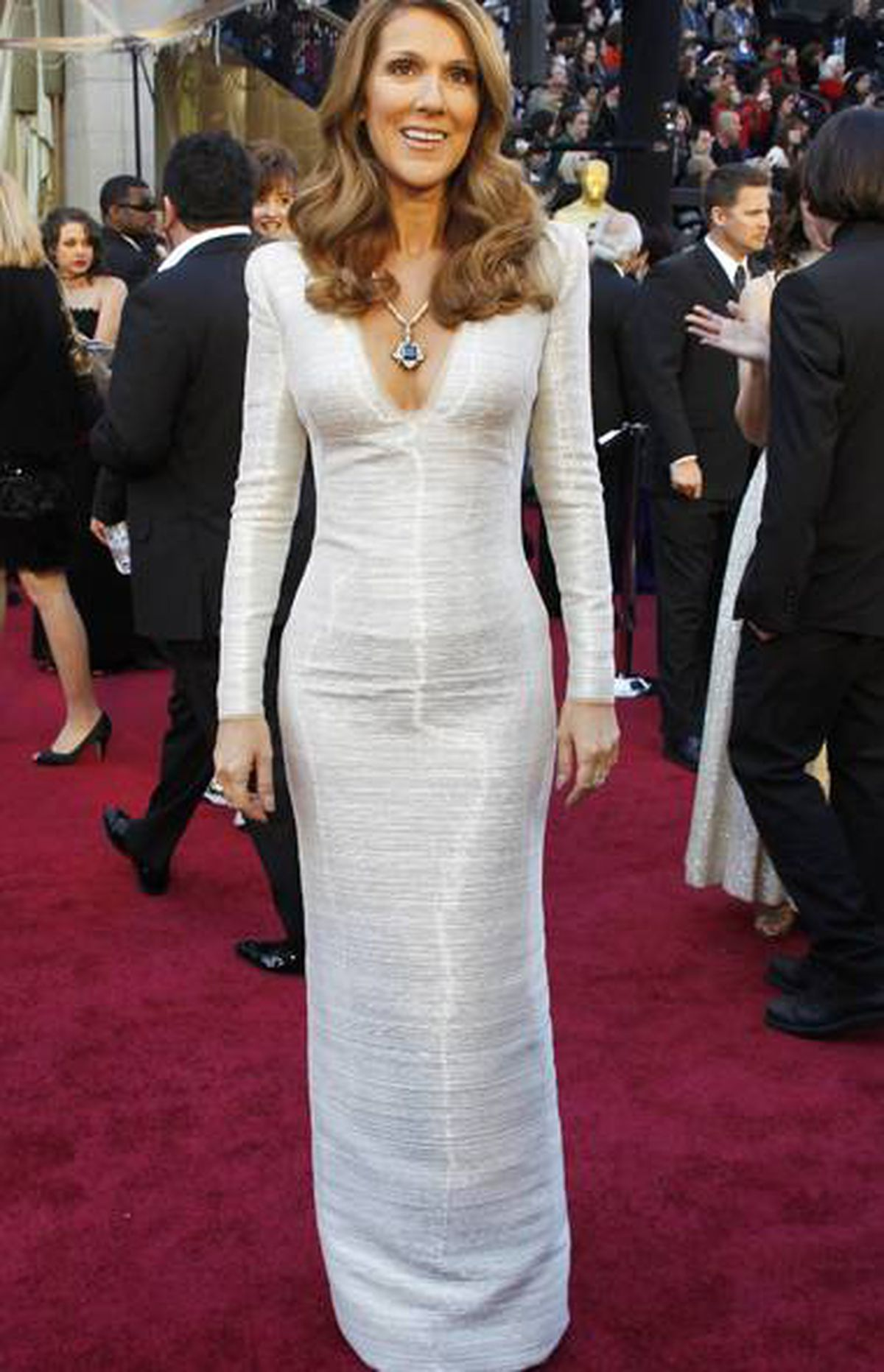 Singer Celine Dion who arrives at the 83rd Academy Awards in Hollywood, California, February 27, 2011.