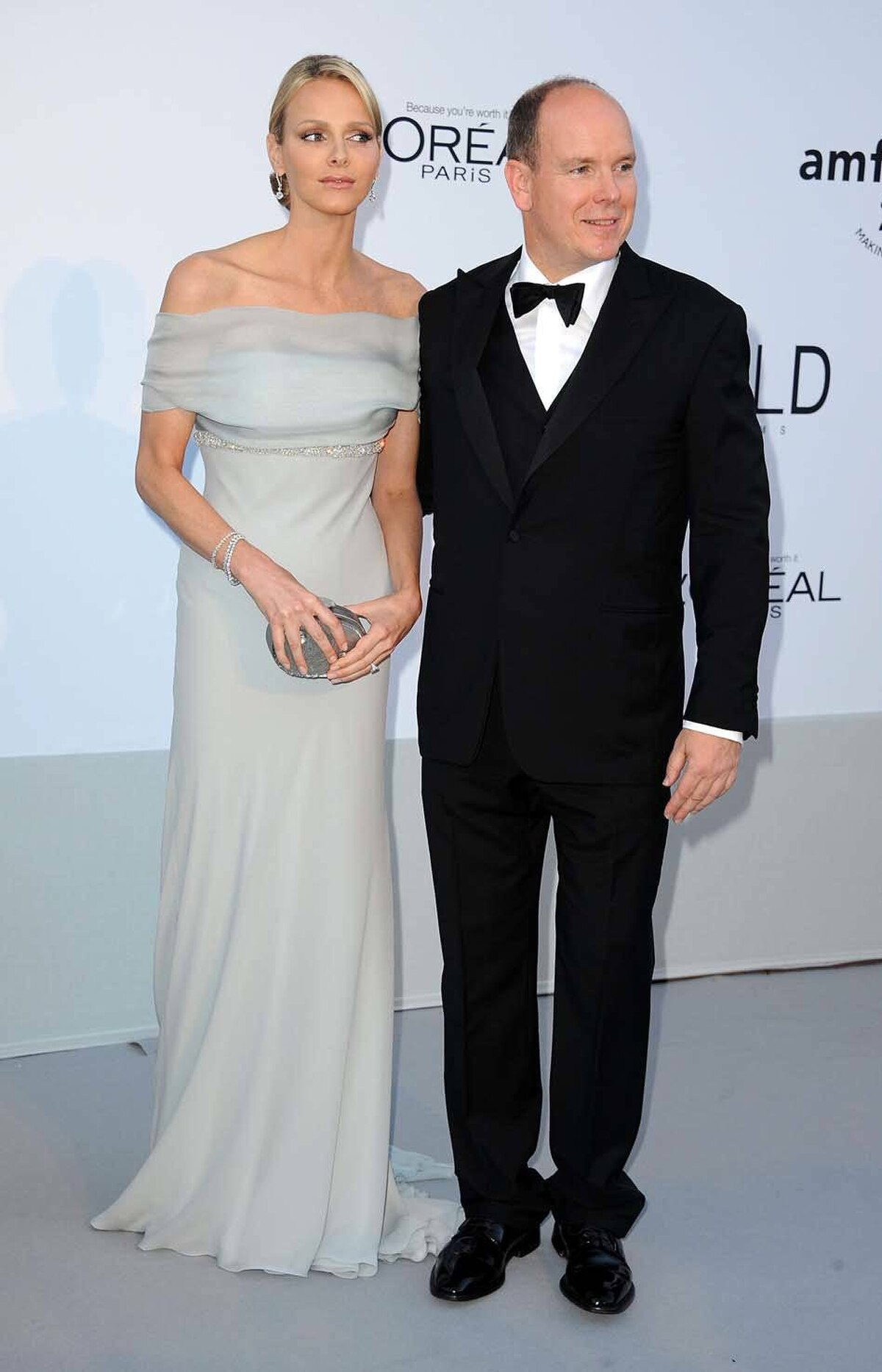 Charlene Wittstock and Prince Albert II of Monaco attend amfAR's Cinema Against AIDS Gala at the Cannes Film Festival on Thursday.