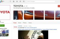 Toyota's Google+ Page as of October 10, 2011