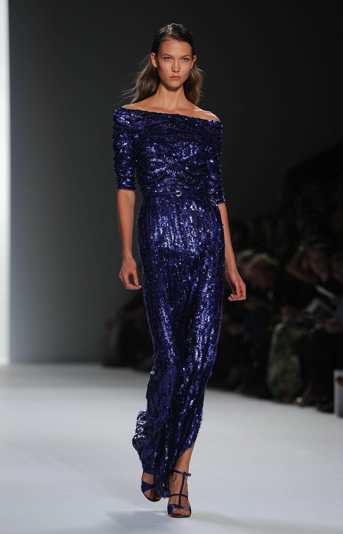 Kloss, a designer darling and runway fixture, closed the Elie Saab show in a lapis-blue sequin gown. Which means she also closed Paris Fashion Week – and the SS12 fashion season, for that matter. A bientôt ... until February!