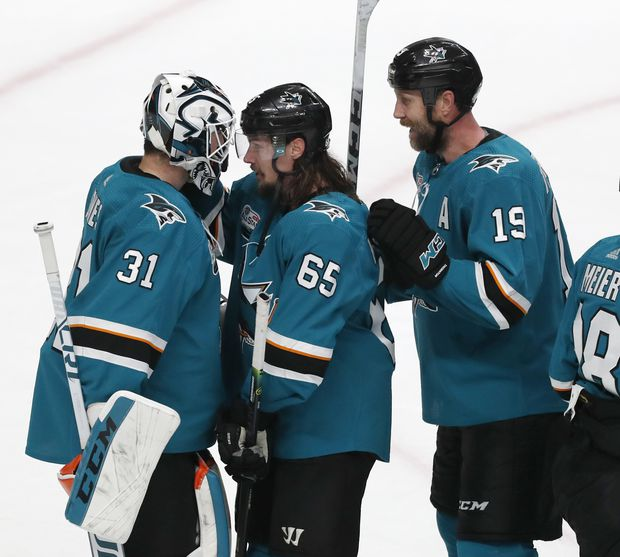 new style 130f7 488f3 Erik Karlsson has another three-assist game as Sharks beat ...