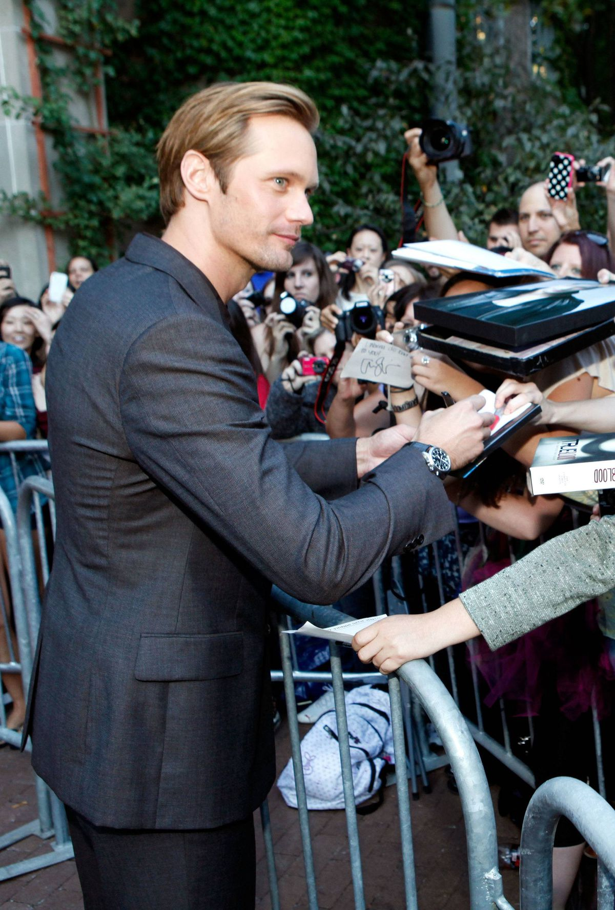 "Actor Alexander Skarsgard arrives at ""Meloncholia"" Premiere at Ryerson Theatre during the 2011 Toronto International Film Festival on September 10, 2011 in Toronto, Canada."
