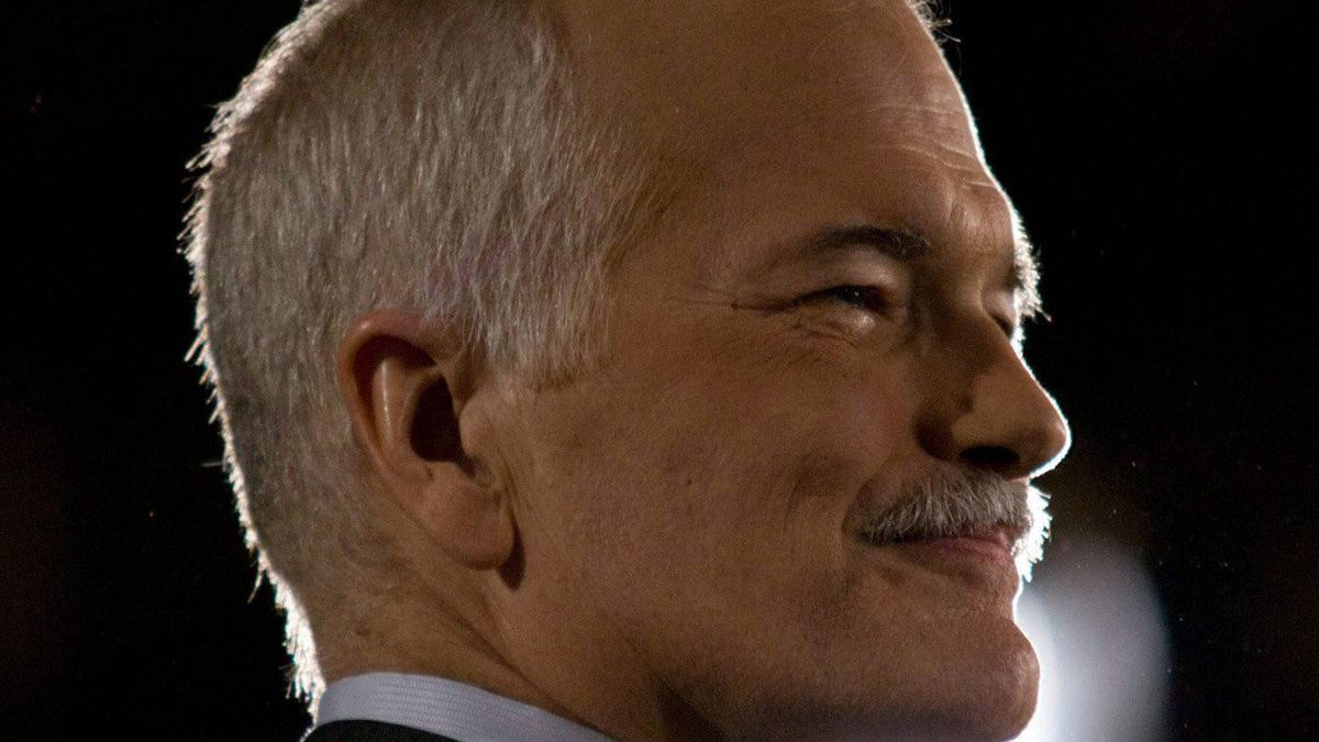 NDP Leader Jack Layton has died after a battle with cancer. Layton speaks to supporters at the NDP headquarters in Toronto, Ont., on Monday, May 2, 2011.