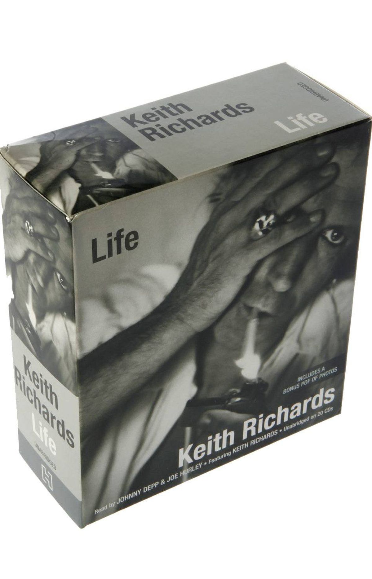 Life by Keith Richards Voted audio book of the year at the awards that honour such productions, this 23-hour narration of guitarist Keith Richard's best-selling biography includes the voices of actor Johnny Depp, London-born actor Joe Hurley and even a bit by the mumble-mouthed madman himself. $26.38 at chapters.indigo.ca; amazon.ca