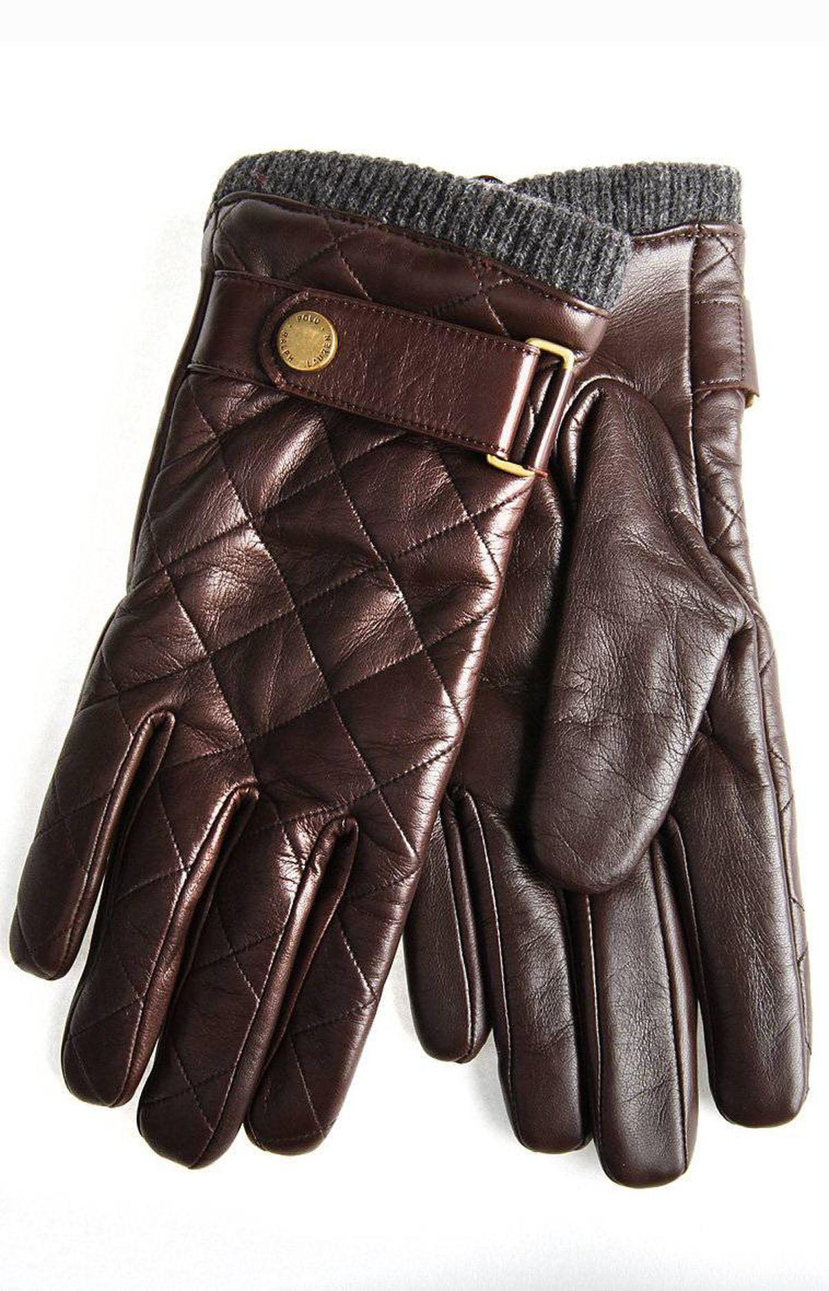 Brown Ralph Lauren gloves, $98 at the Bay (www.hbc.com).