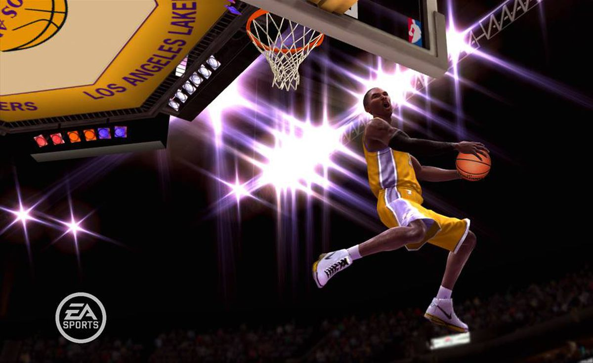 A screenshot from the upcoming EA release NBA 2009