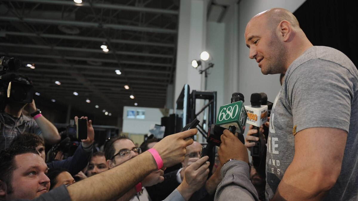 Dana White, president of the UFC (Ultimate Fighting Championship) during a press conference April 27 2011 in Toronto.