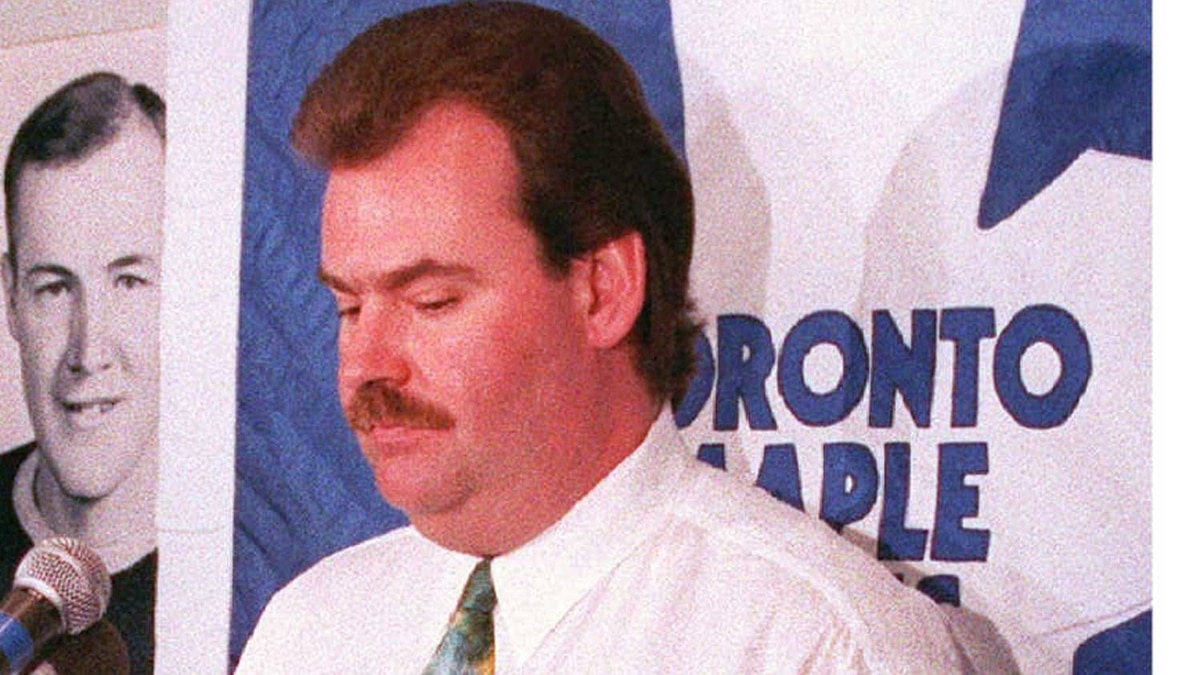 Toronto Maple Leafs head coach Pat Burns is taking the fall for tumbling team. Burns, shown in this 1993 file photo after Toronto's playoff loss to Los Angeles Kings, has been fired by the Leafs, losers of theirlast eight games and 3-16-3 since the all-star break/ (CP PHOTO) 1996 (Files-Staff-Ryan Remiroz)