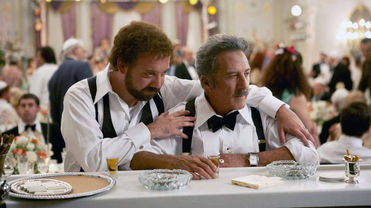 "Paul Giamatti, left, and Dustin Hoffman in a scene from ""Barney's Version"""