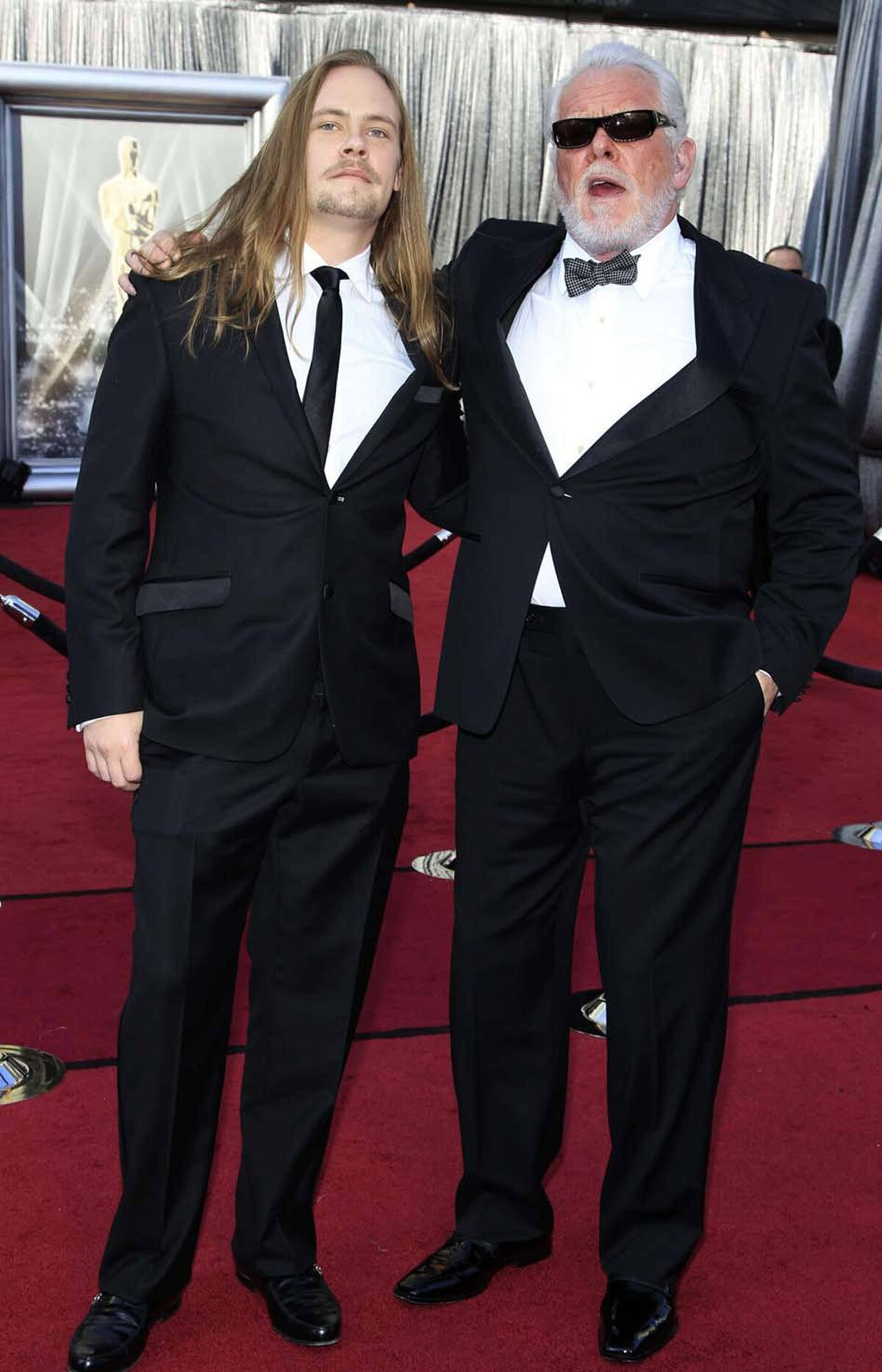 Nick Nolte arrives at the Oscars with his son Brawley. His other sons Fracasly and Donnybrookly stayed home.