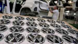 Volkswagen AG headquarters in Wolfsburg, Germany. VW shares rose Thursday as the German auto maker posted a surprise profit, bucking the Europe-wide downturn in car sales.