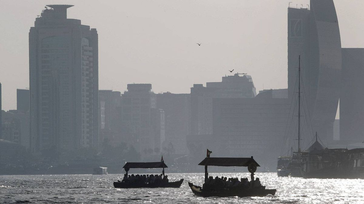 Abra taxi boats in Dubai. The head of the International Bar Association is defending the group's decision to carry on with its annual conference in the UAE city-state.