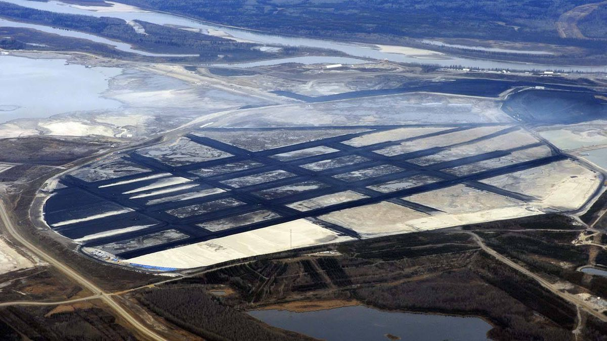 The Suncor oil sands mining operation north of Fort McMurray, Alberta.