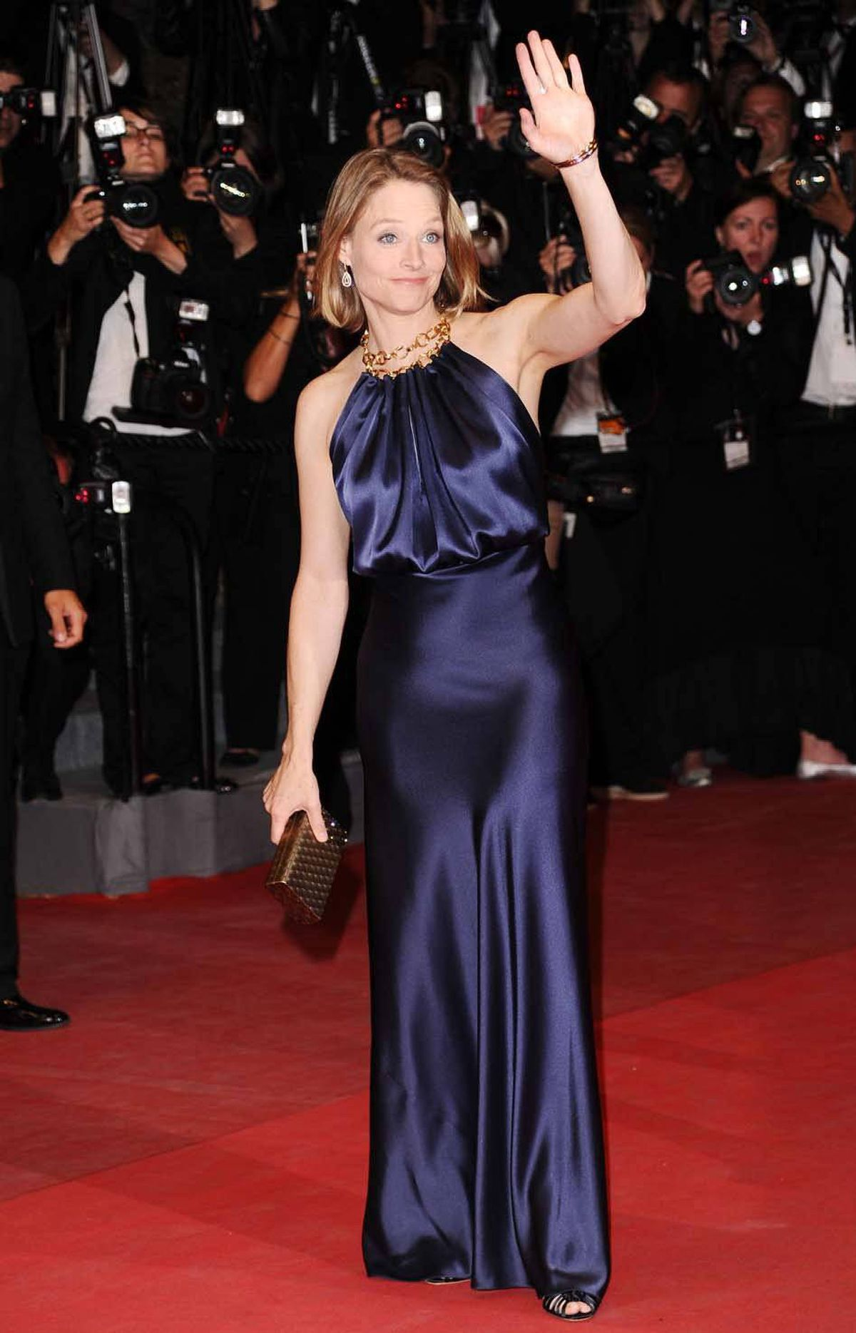 """Jodie Foster attends the """"Melancholia"""" premiere at the Cannes Film Festival on Wednesday."""