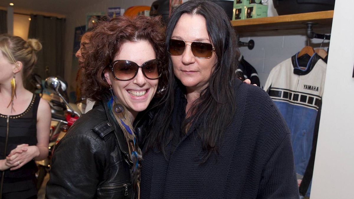 Debra Goldblatt and Kelly Cutrone at Motoretta's 10 year anniversary party held May 25 at their College Street location in Toronto.