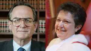 Supreme Court's Mr. Justice Ian Binnie, on Feb. 7, 2003, left, and Madam Justice Louise Charron, on Oct. 4, 2004.